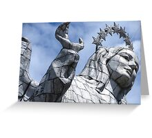 Statue. Greeting Card