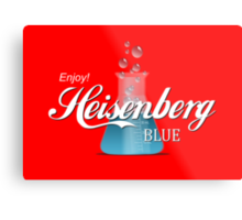 Enjoy Heisenberg Blue Metal Print