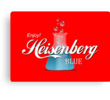 Enjoy Heisenberg Blue Canvas Print