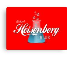 Enjoy Heisenberg Blue Canvas Print