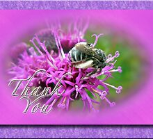 Thank You Greeting Card - Bumblebee on Ironweed by MotherNature