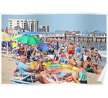 First day at Old Orchard Beach Poster
