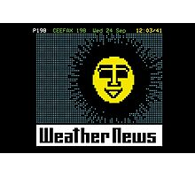 Pages From Ceefax - Weather News Photographic Print
