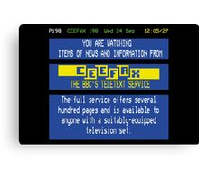 Pages From Ceefax Canvas Print