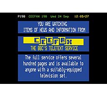 Pages From Ceefax Photographic Print