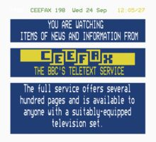 Pages From Ceefax Baby Tee
