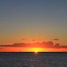 A Waikiki Beach Sunset by Adam Kuehl
