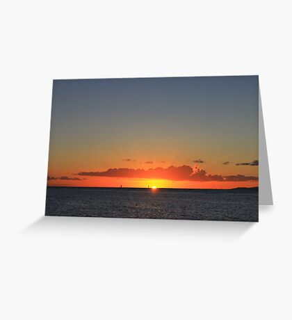 A Waikiki Beach Sunset Greeting Card