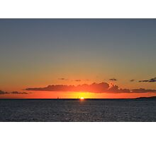 A Waikiki Beach Sunset Photographic Print