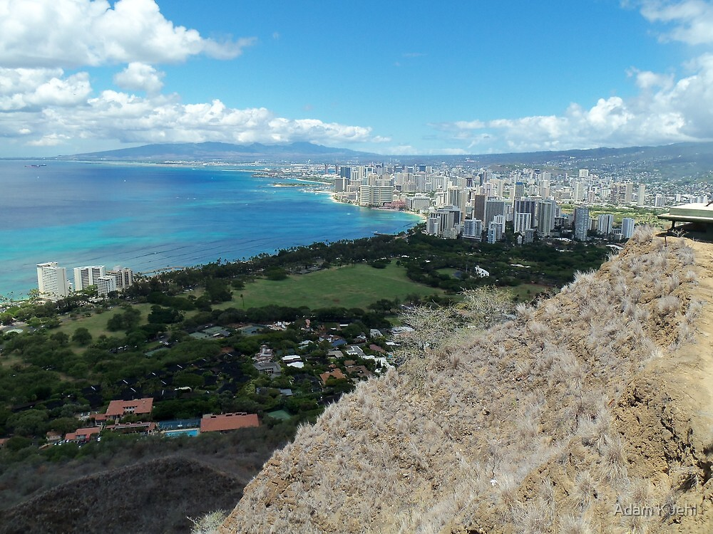 Waikiki from the Top of Diamond Head by Adam Kuehl