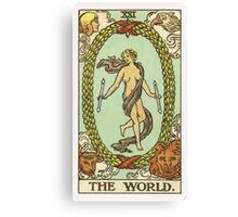 Tarot Card - The World Canvas Print
