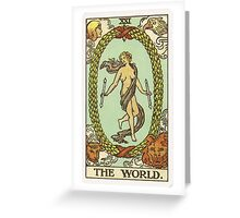 Tarot Card - The World Greeting Card