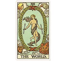Tarot Card - The World Photographic Print