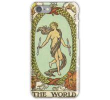 Tarot Card - The World iPhone Case/Skin