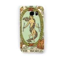 Tarot Card - The World Samsung Galaxy Case/Skin