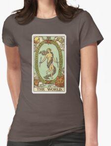 Tarot Card - The World Womens Fitted T-Shirt