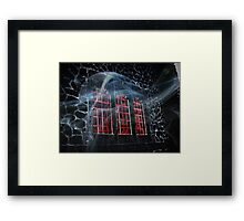 Bloody Windows In the Haunted Castle Framed Print