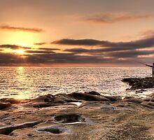 Sunset Fisherman by Eddie Yerkish