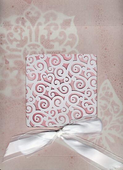 Lacey Ribboned Box by Sandra Foster