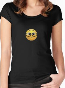 Nerd Emoji Women's Fitted Scoop T-Shirt