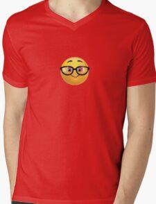 Nerd Emoji Mens V-Neck T-Shirt