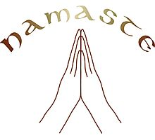 Namaste Yoga Mudra Photographic Print