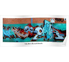 Urban Art In Brunswick Poster