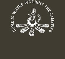 Home Is Where We Light The Campfire T Shirt Womens Fitted T-Shirt
