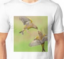 Greenfinches in flight T-Shirt