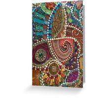 Original Mosaic Design Greeting Card