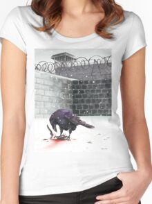 Crow, Bloody Snow Women's Fitted Scoop T-Shirt