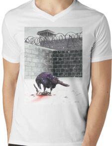 Crow, Bloody Snow Mens V-Neck T-Shirt