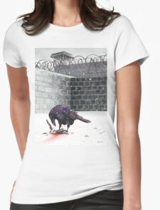 Crow, Bloody Snow Womens Fitted T-Shirt