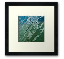 water and waves Framed Print