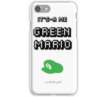 Green Mario iPhone Case/Skin
