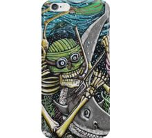 SWIMMING SKELETON iPhone Case/Skin