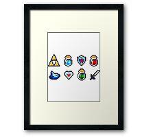 Zelda Items Framed Print