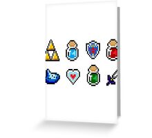 Zelda Items Greeting Card