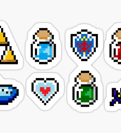 Zelda Items Sticker