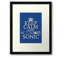 Keep Calm and Sonic Framed Print