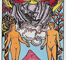 Tarot Card - The Lovers by TexasBarFight