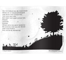 Watership Down Black and White Illustrated Quote Poster