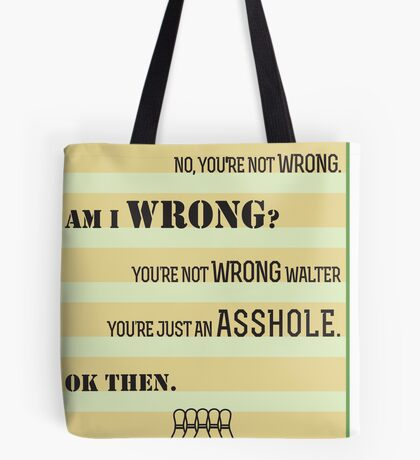 The Big Lebowski A-hole Quote Tote Bag