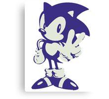 Minimalist Sonic Canvas Print