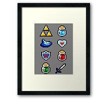 Zelda Items V.2 Framed Print