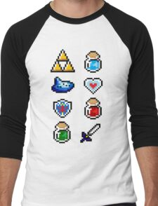 Zelda Items V.2 Men's Baseball ¾ T-Shirt