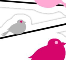Birds on a Wire - Pink Sticker