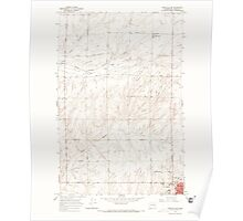 USGS Topo Map Washington State WA Ritzville NW 243466 1967 24000 Poster