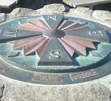 Compass at Yaquina Bay Park, Newport, Oregon by Sabrina Messenger