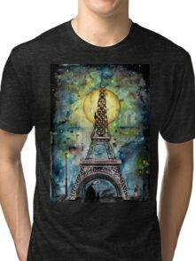 Paris... only light destroys darkness Tri-blend T-Shirt